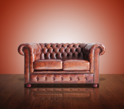 Leather Sofa indicating the need for Leather Cleaning